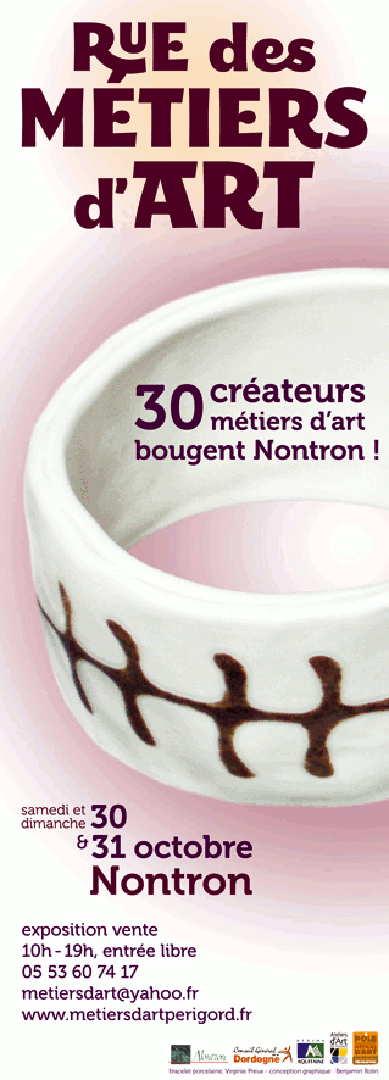 Rue des Métiers d'Art 2010 : un 1er salon à Nontron