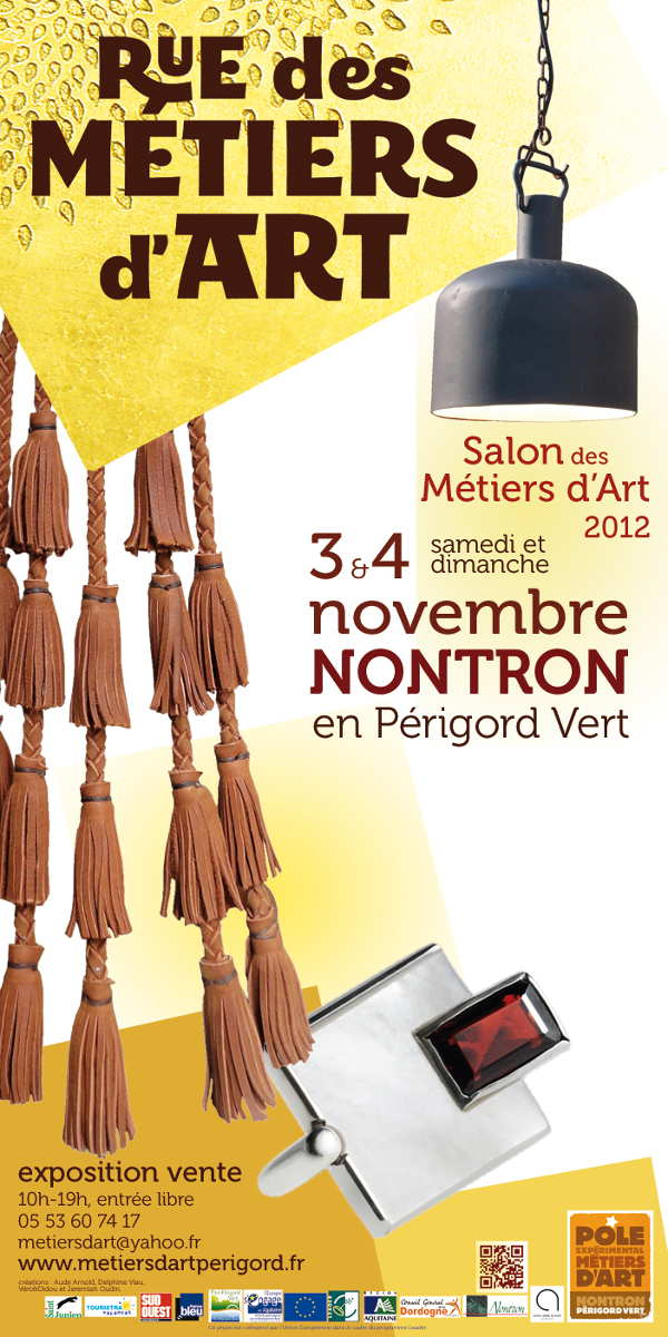 Rue des Métiers d'Art, salon métiers d'art 2012 à Nontron