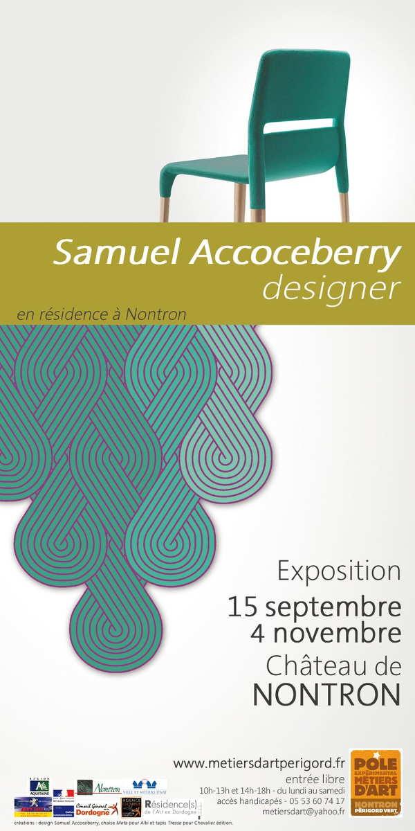 Samuel Accoceberry, designer – Exposition de début de résidence