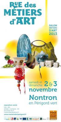 Affiche de Rue des Métiers d'Art - salon des métiers d'art à Nontron - novembre 2013