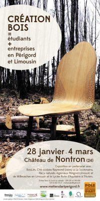 Création bois, étudiants + entreprises en Périgord et Limousin – Exposition à Nontron