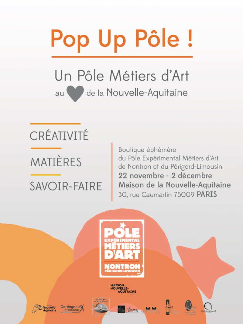 Pop Up Pôle ! Le Pôle à PARIS, Maison de la Nouvelle-Aquitaine.