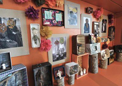 montage photos et papiers, création Anne LE DORLOT Terre fil et papier