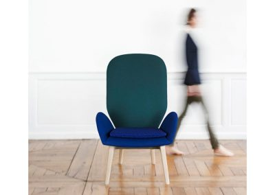 fauteuil réalisé par laurence Girard, design les M Studio