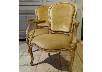 fauteuil réalisé par Laurence GIRARD, Atelier St Joseph, Tapissier d'ameublement