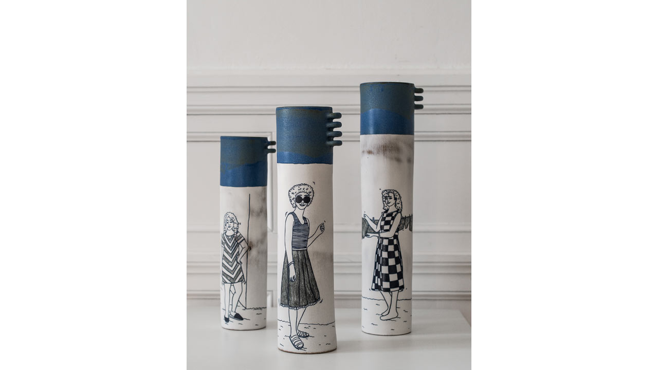 Marlène Requier, vases, céramique - photo J-Y Le Dorlot