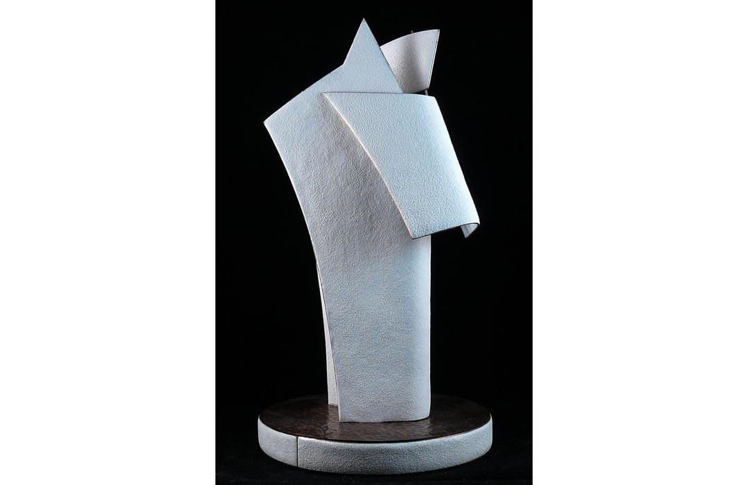 Arnaud Jouhannet, Cheval, sculpture en métal émaillé.